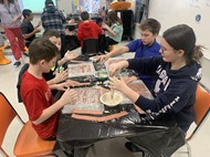 Students create arts projects for class presentations