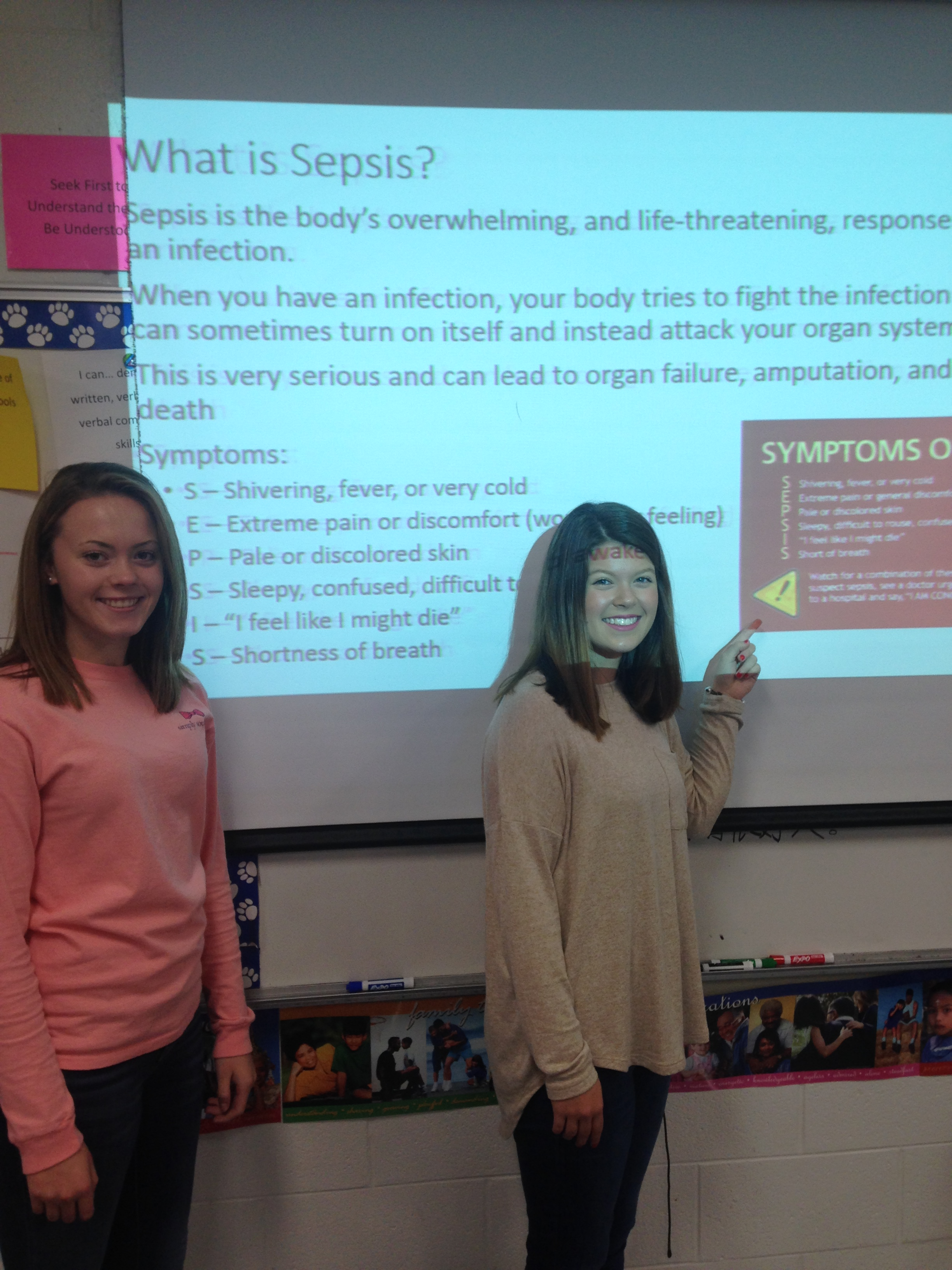 FCCLA officers educate classmates concerning Sepsis