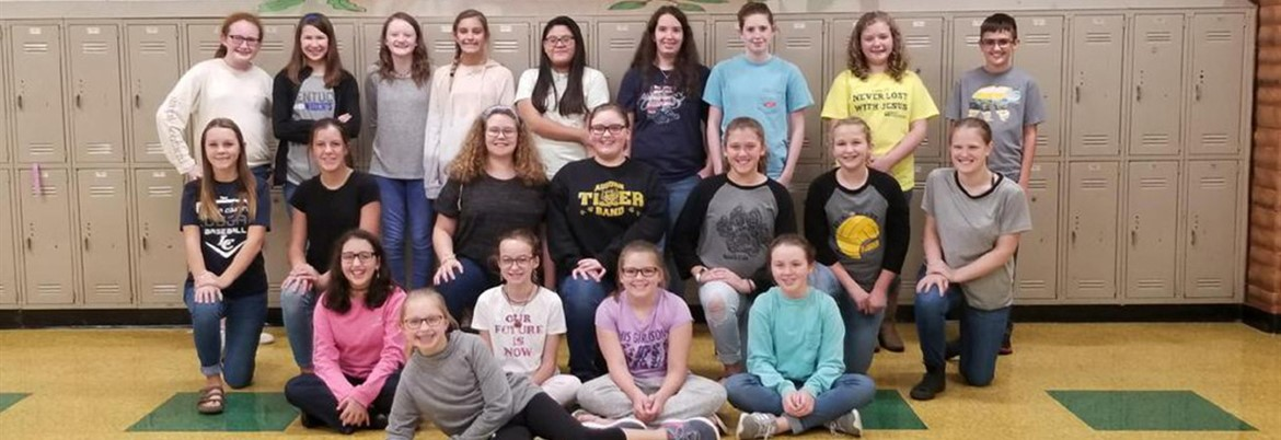 This is a photo of the yearbook staff for 2018-2019.