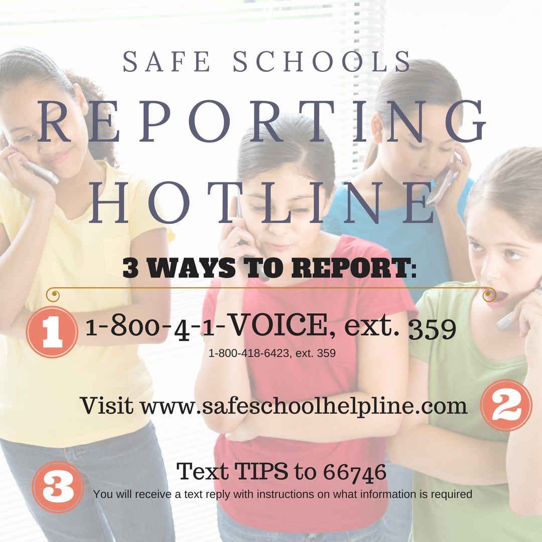 Safe Schools Hotline Reporting Instructions
